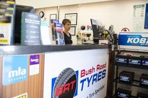 Bush road tyres albany front desk