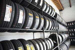 Wide range of tyres