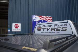 Bush Road Tyres Support Vehicle