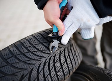 Tyre puncture repairs