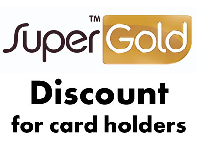 discount for supergold card holders